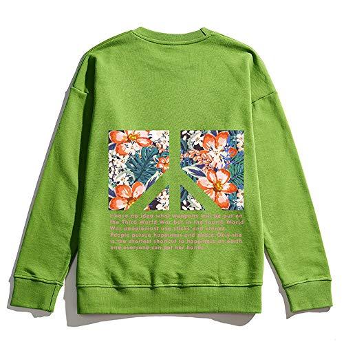 Col Ras du Cou Sweats Sweat-Shirts Pullover Imprimé Pull à Manches Longues G-M