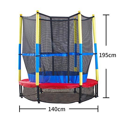 MaxxGarden Trampolin Kinder Indoortrampolin Jumper 140 cm Randabdeckung Stangen gepolstert