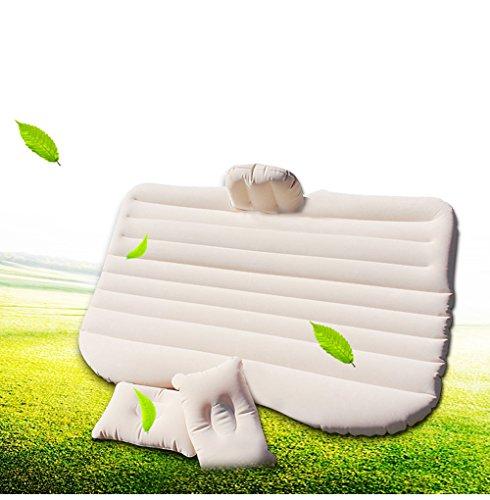 Vinteky Letto Gonfiabile per Il Sedile Posteriore dell'auto, con Cuscini e Supporto vano Piedi (Materasso Auto) (Bianco)