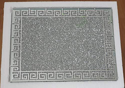 Ceramic Tabla de cortar con diseño especial de diamante de plata triturada