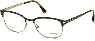 Tom Ford - FT 5381, Geometric, titanium, men, DARK BROWN GOLD(050 AG), 52/18/145