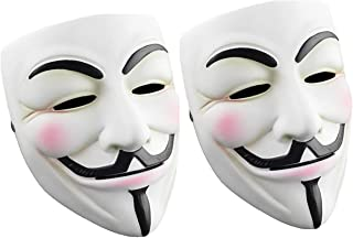 Cataixy Hacker Mask v for Costume - Anonymous Mask V Vendetta Guy Masks for 2020 Halloween Party Cosplay