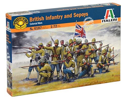 ITALERI 6187S - 1:72 British Infantry and Sepoys , Modellbau, Bausatz, Standmodellbau, Basteln, Hobby, Kleben, Plastikbausatz, detailgetreu