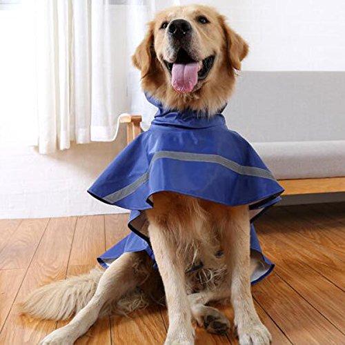 Ltuotu Pet Dog Impermeabili facile da indossare Super impermeabile traspirante e Snowproof (blu, L)