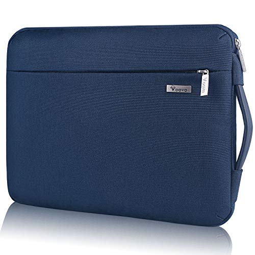 Voova Protectora de 360 Funda Portatil 11-11.6 Pulgada con Asa, Maletín Ordenador Compatible con iPad Pro 12.9 2020, Surface Pro X/7/6/5, MacBook Air 11, Mac 12, DELL Acer HP Chromebook/Tablet, Azul