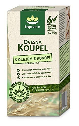 KOLLOIDALES HAFERMEHL Pulver mit Hanf Öl | Feuchtigkeitspendende, Beruhigende Kur für Trockene, Juckende und Empfindliche Haut | Hilft mit Ekzem, Neurodermitis, Windpocken und Schuppenflechte