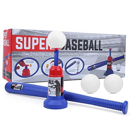 OhhGo Baseball Ball Set Spielzeug Semi Automatischer Baseball Launcher Baseball Schläger Spielzeug Kleinkind Outdoor Spielzeug für 3 4 Jahre alte Jungen Mädchen