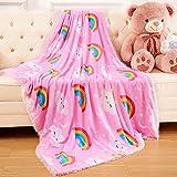 ST. BRIDGE Faux Fur Throw Blanket for Kids, Super Soft Lightweight Shaggy Pattern Flannel Fleece Fuzzy Blanket Warm Cozy Plush Fluffy Decorative Blanket for Girls Princess Castle Boys(30'x40', Pink)
