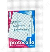 Pigna 02156215M Protocollo in Risma 1 Confezione da 200 Fogli