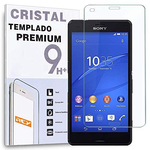 REY Protector de Pantalla para Sony Xperia Z3 Mini Compact Cristal Vidrio Templado Premium