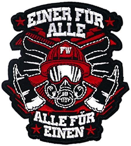 Aufnäher Aufbügler Patch Feuerwehr Einer für alle Alle für einen