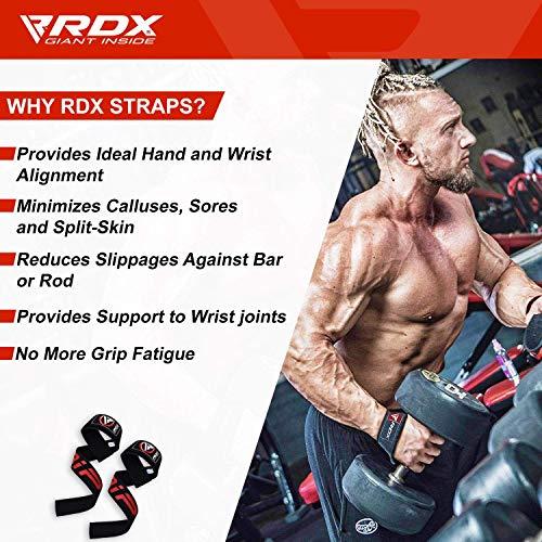 Authentisch RDX Training Gewichtheber Griffe Fitness Handgelenk Stütze Handgelenkbandage W1B - 2