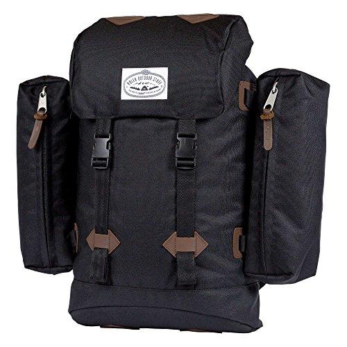 POLER Bag Retro Rucksack, Black, 50 x 40 x 6 cm, 18 Liter