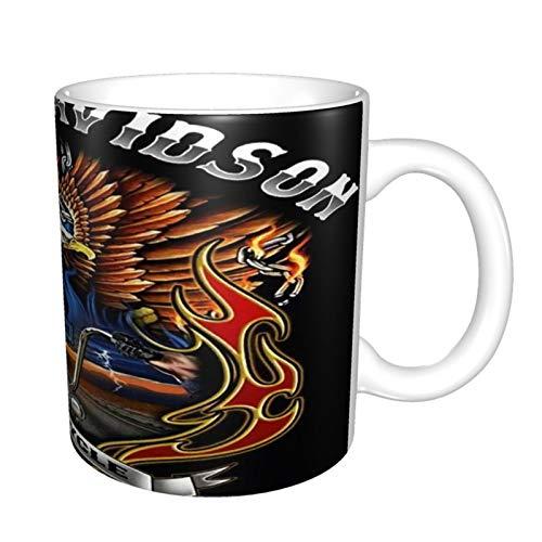 Harley Davidson Taza de café de cerámica, taza mágica de té, regalo divertido de novedad 11 oz