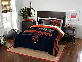 Chicago Bears - 3 Piece FULL / QUEEN Size Printed Comforter Set - Entire Set Includes: 1 Full / Queen Comforter (86