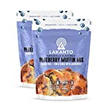 Lakanto Sugar-Free Blueberry Muffin Mix, Low-Carb, Gluten-Free Baking with Monkfruit Sweetener (Pack of 2)