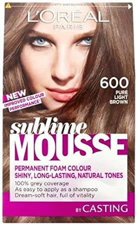 Loreal paris - Sublime mousse, tinte para el pelo, color 600 pure light brown