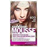 L'oreal paris - Sublime mousse, tinte para el pelo, color 600 pure light brown