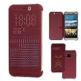 TECHGEAR Dot Matrix View Coque pour HTC One M9 Housse Dépliable avec Fonction...