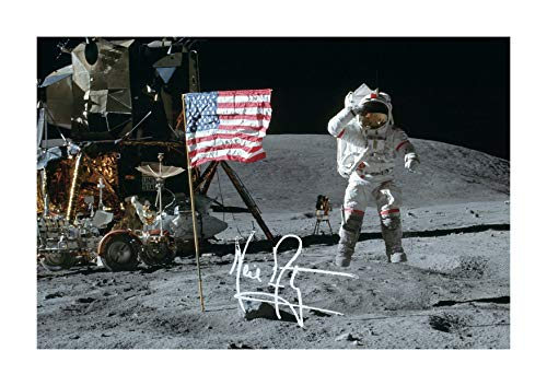 Engravia Digital Apollo 11 Neil Armstrong tomado el 20 de julio de 1969, póster de reproducción fotográfica A4 (sin marco)
