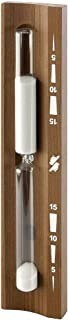 Goldspatz Wall-Mounted Rotating Sauna Sand Timer, Thermo Wood, 15 Minutes, Sand Color White, No. 9102