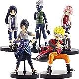 Cheaaff KY Anime Modelo Statueanime Naruto Kakashi Naruto Gaara Sasuke Sakura PVC Figura de Acción Colección Mini Modelo Juguetes Regalos 5pcs / Set 7-10Cm