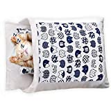 NIBESSER Cat Sleeping Bag, Self Warming Cat Bed Cave, Covered Cat Bed for Indoor Cats, Small Pet Bed, Cozy Kitten Bed, Cute Cat Bed with Removable Pillow, Soft Pet Mat, Machine Washable Pet Cave Bed