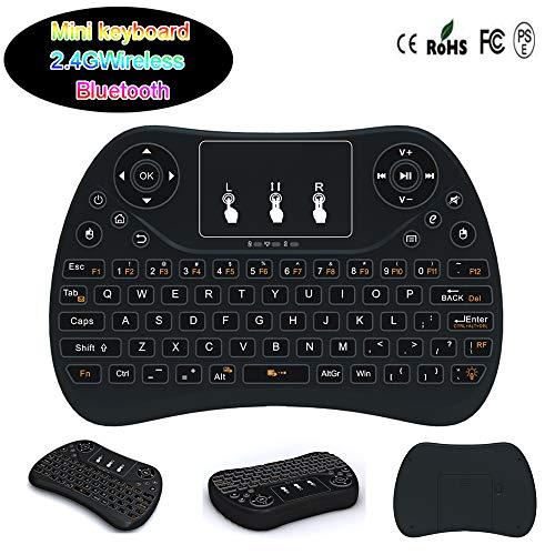 Preisvergleich Produktbild KKLTE 2-In-1 Mini-Wireless-Tastatur-2, 4 Ghz Tragbare Multifunktionale Bluetooth-Maus-Kombination,  7-Farben-Hintergrundbeleuchtung-Spiel Tastatur-Maus,  Kann Für Andriod,  Ios,  Windows Verwendet Werden