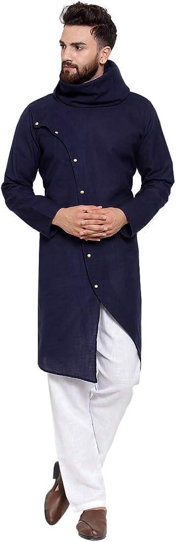 Yard Of Deals Ranking TOP15 Ethnic Navy Blue Pajama Linen With Aligarh S Atlanta Mall Kurta