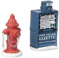 Department 56 Village Fire Hydrant and Newspaper Box Accessory Set of 2 [並行輸入品]