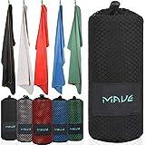 MAVE® Microfaser Reisehandtuch - Schnelltrocknendes und ultraleichtes Mikrofaser Handtuch -