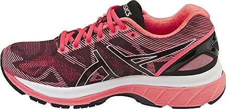 ASICS Women's Gel-Nimbus 19 Running Shoe, Black/Silver/Pink, 8 M US