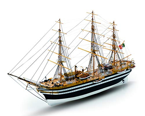 Mamoli Kit Barca Amerigo VESPUCCI Wooden Ship Scala 1:150 L:720mm H:375