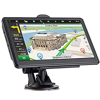 GPS Navigation for Car Truck 7 inch Touch Screen Vehicle GPS Navigation with Speedometer HGV Voice GPS Speeding Warning, 2021 Maps, Lifetime Free Map Updates