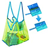 Kidtion Beach Toys Bag, Extra Large Beach Accessory, Lightweight & Durable Mesh Beach Bag and Tote for Traveling & Vacationing, Foldable & Washable Large Mesh Beach Bag for Children's Toys