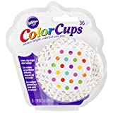 Wilton 415-0627 36-Pack Color Baking Cup, Standard, Dots Rainbow disposable cups Nov, 2020