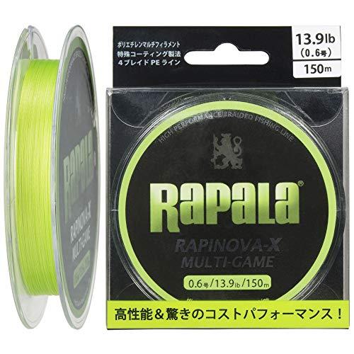 Rapala(ラパラ) PEライン ラピノヴァX マルチゲーム 150m 0.6号 13.9lb 4本編み ライムグリーン RLX150M06LG