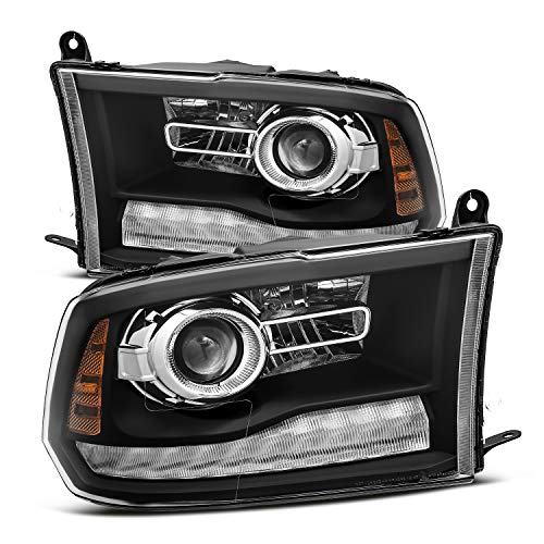 Modifystreet Black For 09-18 Ram 1500/10-18 Ram 2500/3500 Dual/Quad Projector Headlights Upgrade Kit