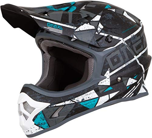 O'Neal 3Series Zen Motocross Helm MX MTB FR DH All Mountain Bike Freeride Downhill Fahrrad, 0623-Z-Adult, Farbe Petrol, Größe XL