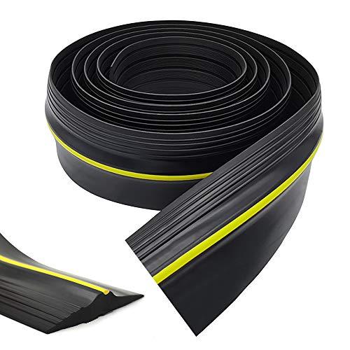 YFXcreate 20 Ft Garage Door Threshold Bottom Seal Strip Rubber Weather Stripping Easy Cut Replacement Weatherproof Universal