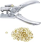 Bgs Technic PRO+ - Perforatore E Pinza per Occhielli, 5 Mm, con Assortimento di Occhielli, 180 Mm
