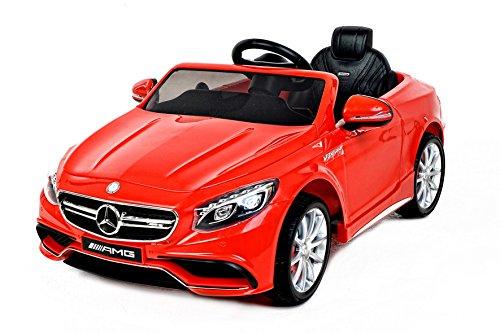 RIRICAR Mercedes S63 AMG Voiture-Jouet électrique pour Enfant, Deux Moteurs, Rouge, Licence Mercedes Originale
