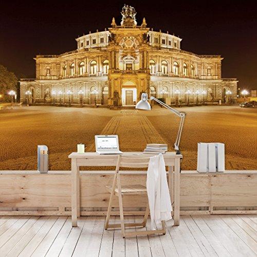 Apalis Vliestapete Dresdner Opernhaus Fototapete Breit | Vlies Tapete Wandtapete Wandbild Foto 3D Fototapete für Schlafzimmer Wohnzimmer Küche | mehrfarbig, 94599