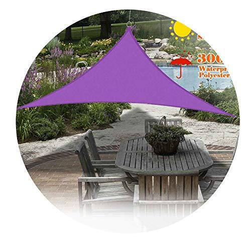 Nevy Driehoek schaduw zeilnet doek zwembad outdoor waterdicht zonwering bescherming tegen UV-straling van de hemel tuin huis tent 5x5x7.1m Paars.