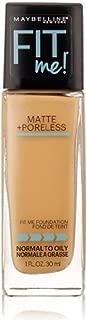 Maybelline New York Fit Me! Matte + Poreless Foundation, Soft Tan [228] 1 oz (Pack of 2)