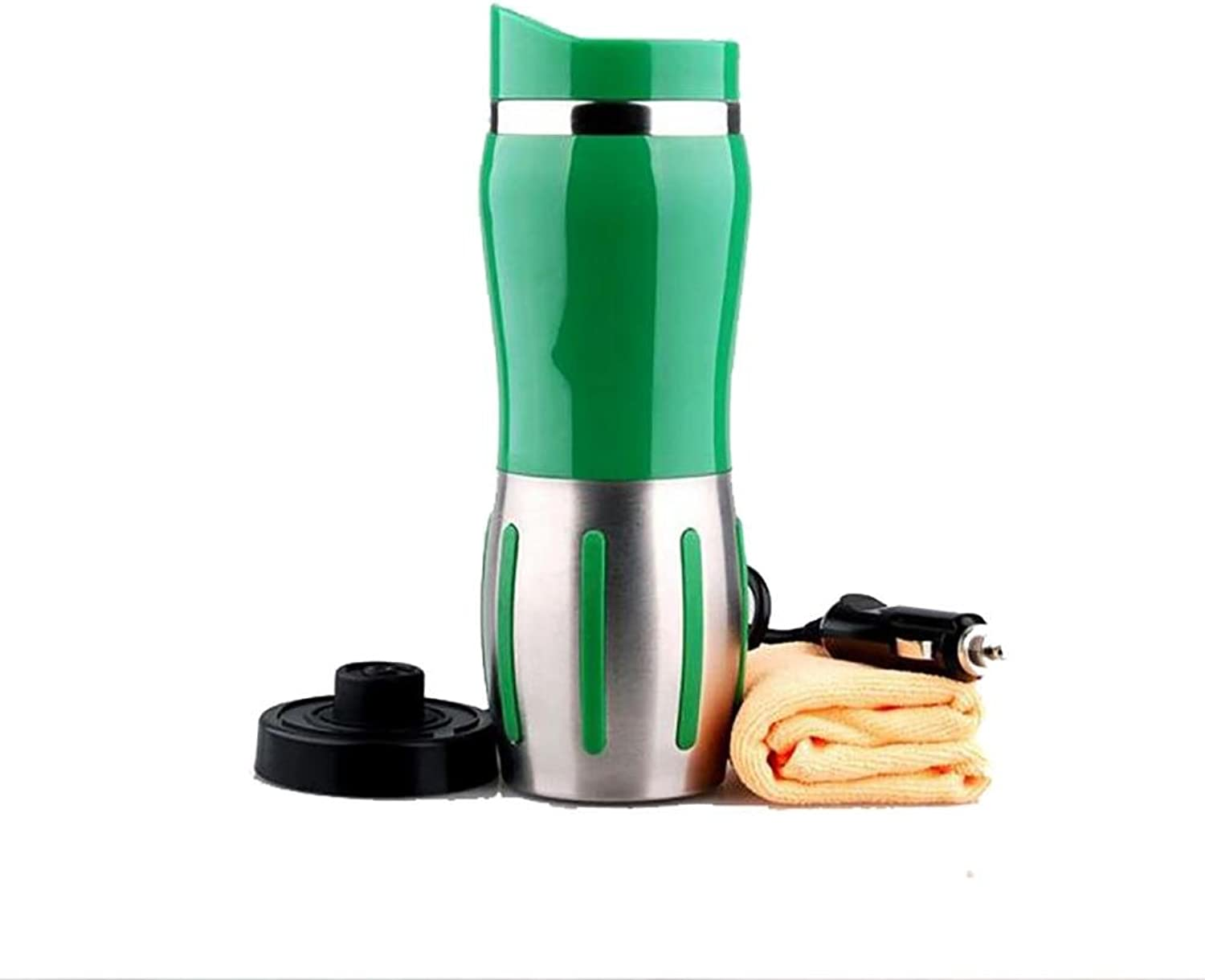 Auto Accessories Auto Accessories Car Electric Kettle Boiling 12 24 Volt Cigarette Lighter Heating Cup Vacuum Insulated Stainless Steel, Green, 24V
