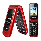 2G Big Button Flip Phone Sim Free Mobile Phone Unlocked Simple Clamshell Phone Easy to use for Elderly and Kids, Dual Display, SOS Button, Talking Numbers, Torch, FM Radio and Camera (Christmas Red)