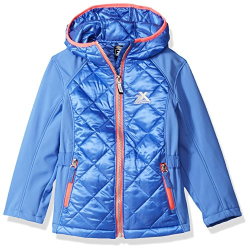 ZeroXposur Little Eleanor Jvi Girls Transitional Jacket, Larkspur, Small