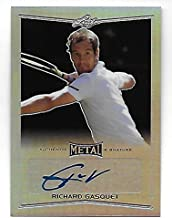 RICHARD GASQUET 2016 Leaf Metal Tennis Prismatic Refractor autograph #BARGI