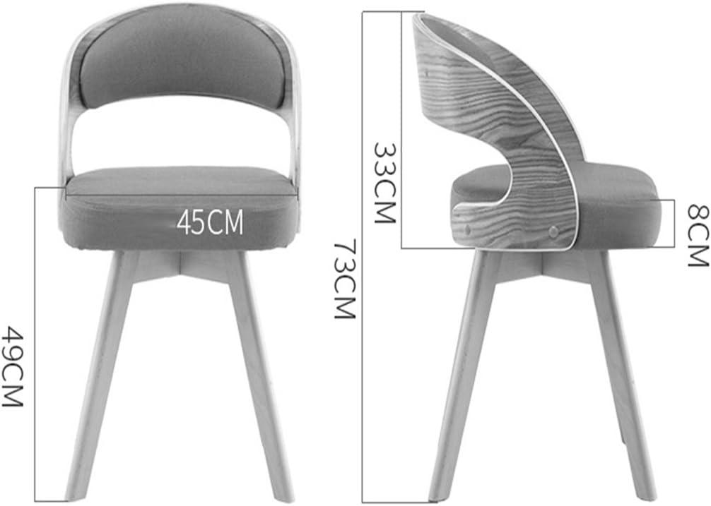 Chaise de mode en bois nordique moderne minimaliste balcon chaise longue en bois chaise de négociation pour adultes (Couleur : 6) 7
